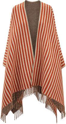 Fendi striped poncho
