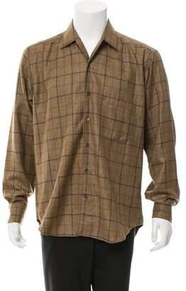 Loro Piana Plaid Cashmere Shirt