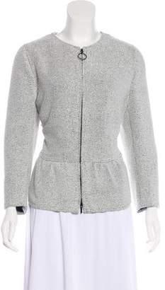 Akris Punto Tweed Zip-Up Jacket