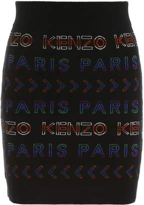 Kenzo Mini Skirt With Logo