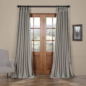 Eff EFF Solid Faux-Silk Taffeta Window Curtain