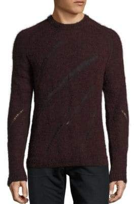 BLK DNM Distressed Intarsia Sweater
