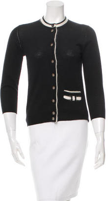 Marc by Marc Jacobs Wool Button-Up Cardigan $70 thestylecure.com