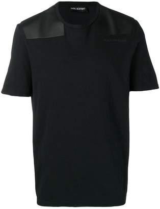 Neil Barrett contrast shoulder panel T-shirt