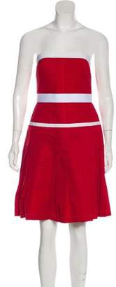 Dolce & Gabbana Strapless Pleated Dress w/ Tags