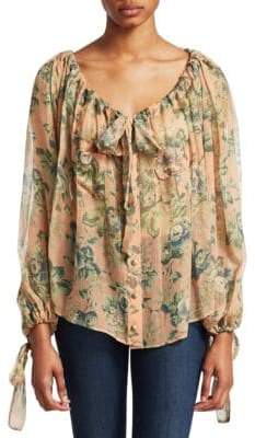Zimmermann Tempest Gathers Silk Blouse