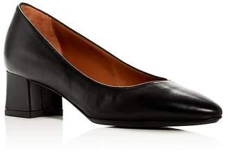Aquatalia Women's Pasha Weatherproof Leather Block-Heel Pumps
