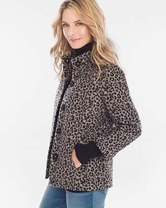 Chico's Chicos Plush Leopard-Print Swing Jacket