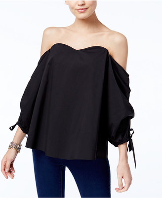 INC International Concepts Off-The-Shoulder Top, Only at Macy's $69.50 thestylecure.com