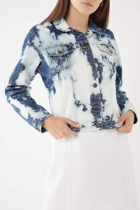 Urban Renewal Vintage Remade Bleach Splattered Denim Jacket