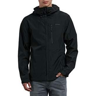 Volcom Men's Stone Storm Hooded Zip up Rain Jacket