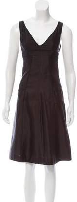 Narciso Rodriguez Sleeveless Silk Dress