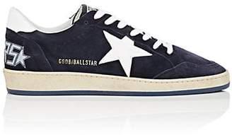 Golden Goose Men's Ball Star Suede & Leather Sneakers - Navy