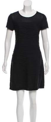 Diane von Furstenberg Noelle Mini Raw-Edge Trim Dress w/ Tags