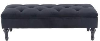 DecMode Decmode Eclectic 17 X 42 Inch Rectangular Black Storage Bench