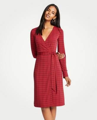 Ann Taylor Petite Illusion Geo Button Cuff Wrap Dress