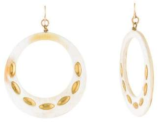 Ashley Pittman Light Horn Hoop Earrings