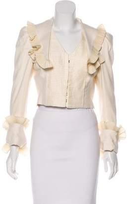 Alexander McQueen Pleated Silk Jacket
