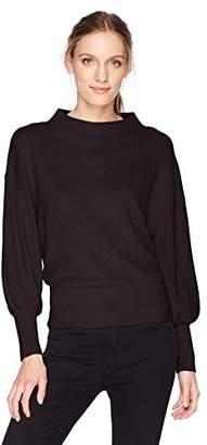 Michael Stars Women's Cashmere Blend Dolman Sleeve Mock Neck Pullover