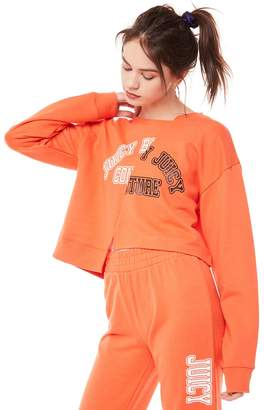 Juicy Couture Jxjc Split Logo Terry Pullover