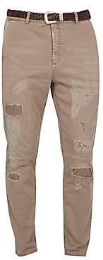 Eleventy Men's Distressed Stretch Pants