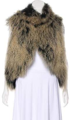 Alice + Olivia Sheep Fur Vest