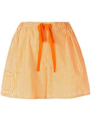 Fendi drawstring-waist striped shorts