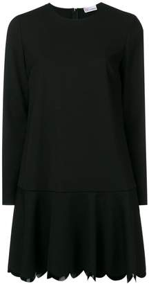 RED Valentino scallop hem shift dress