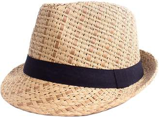 Simplicity Men / Women's Summer Vintage Straw Fedora Hat