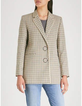 Sandro Zack check-print cotton blazer