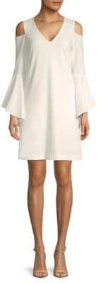 Donna Ricco Cold-Shoulder Dress