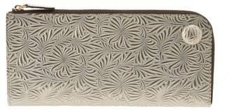 バックヤード ニュートラルグレイ 1412656 牛革型押シ L字ファスナー 長財布