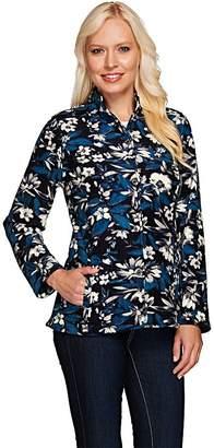 Liz Claiborne New York Floral Print Fleece Jacket