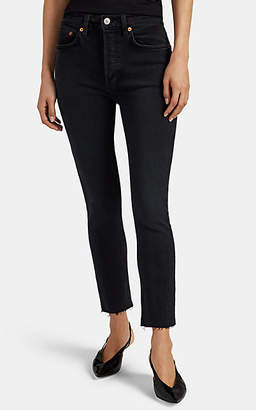 RE/DONE Women's High-Rise Ankle Crop Jeans - Black