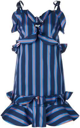 Kenzo short ruffled stripe dress