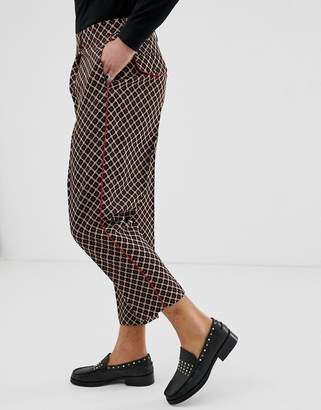 Asos Edition EDITION drop crotch tapered pants with geo in black