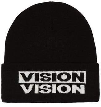 Topman Mens VISION STREET WEAR Black Beanie*