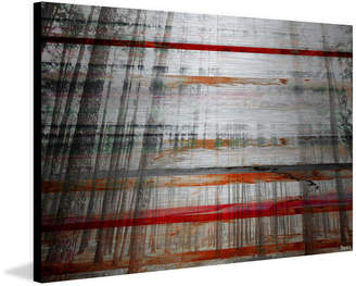 Parvez Taj Grey Trees Print on Brushed Aluminum