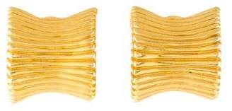 Givenchy Fluted Clip-On Earrings