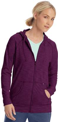 Champion Women's Heathered Jersey Zip-Up Jacket