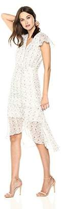 Sam Edelman Women's Ditsy Print with Gathered Front Dress