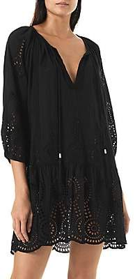 Melissa Odabash Women's Ashley Lasercut Kaftan Dress