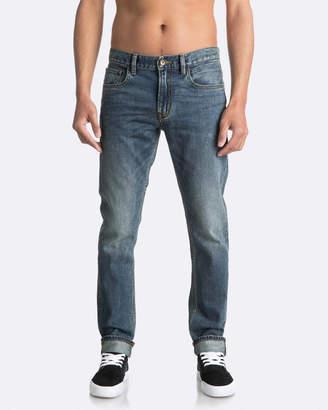 Quiksilver Mens Distorsion Medium Blue Slim Fit Denim Jean