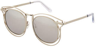 Karen Walker Simone Round Mirrored Sunglasses