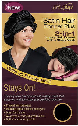 PHUSION Phusion Luxury Hair Bonnet Plus Black Gm Hair Wrap