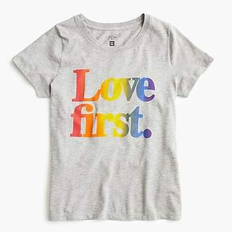 "J.Crew Women's X Human Rights Campaign ""Love first"" T-shirt"