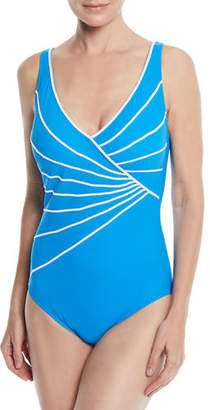 Gottex Sinatra Surplice One-Piece Swimsuit