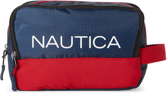 Nautica Navy Logo Nylon Travel Kit