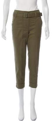 3.1 Phillip Lim Belt-Accented Straight-Leg Pants