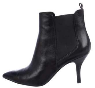 MICHAEL Michael Kors Leather Ankle Boots Black Leather Ankle Boots